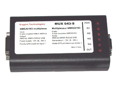NMEA Multiplexer 4 inputs MUX 043-L and MUX 043-S